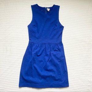 J. Crew factory blue knit sleeveless dress medium